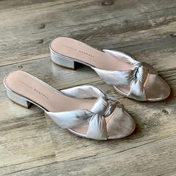 ebdf31fef5 Loeffler Randall Shoes - Loeffler Randall Elsie Silver Knotted Slide Sandal